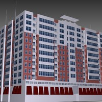 raleigh apartment building 3d model