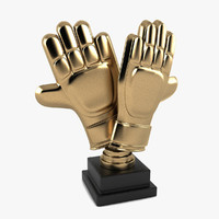 Football Gloves Trophy