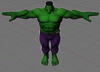 hulk 3d obj