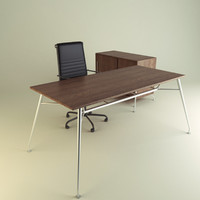 3d model office chair desk