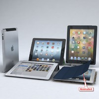 3d apple ipad 3 4