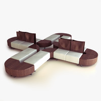 modular seating office 3d model
