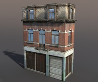 3d obj derelict modeled
