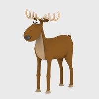 3d nice rudolph cartoon character