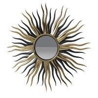Black And Gold Sun Mirror