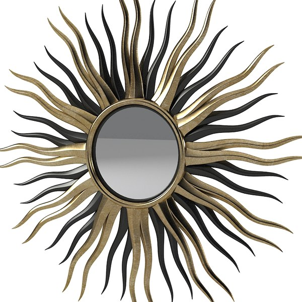 sun mirror black 3ds - Black And Gold Sun Mirror... by shop3ds