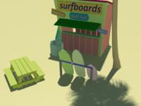 surf beach 3d model