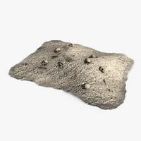 3dsmax dirt pile bones gravel