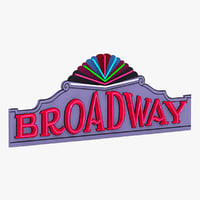 Broadway Theater Sign