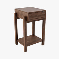 bo nest wood table 3d model