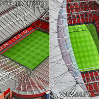 3d model old trafford stadium wembley