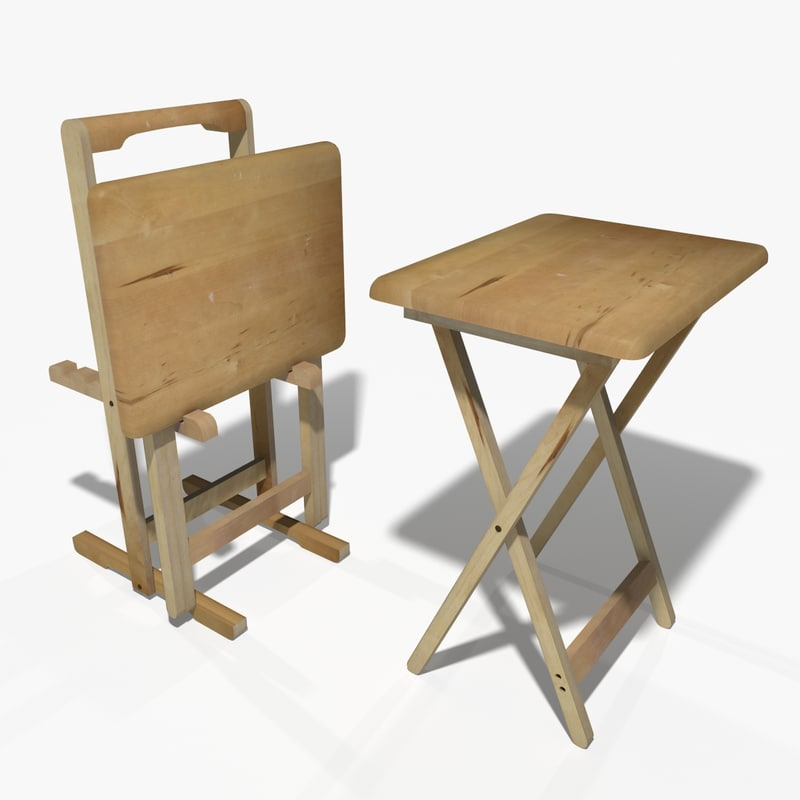 3d model folding table for 52 folding table
