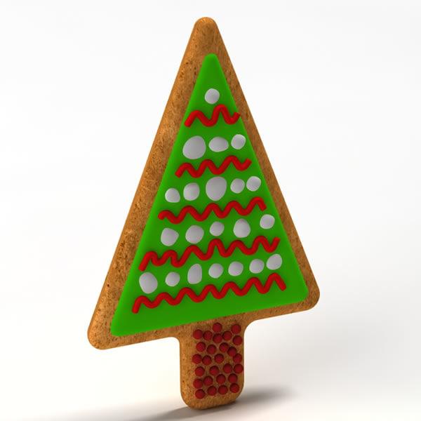 3d gingerbread ginger bread model