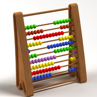3d model abacus 01