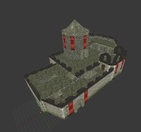 3d small fort fantasy model
