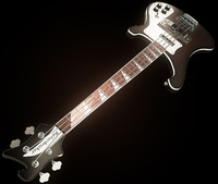 3dsmax rickenbaker bass guitar