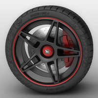 ferrari wheels 3d obj