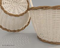 3d basket bamboo