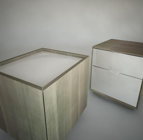 Nyvoll Nightstands Ikea Furniture 3d Max