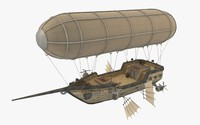 airship scarletts pride 3d model