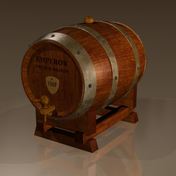 3ds brandy cask - AN Brandy Cask... by Kringle