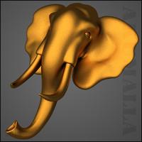 3d elephant statue model