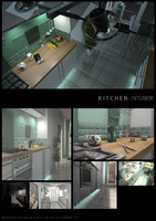 kitchen interior 3d c4d