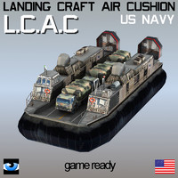 Landing Craft Air Cushion LCAC & truck M1078