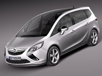 3d model opel zafira tourer 2012