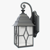 3d model of outdoor lantern