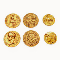 3d model gold coin old