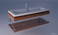 3d model of washbasin