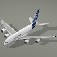 3d airbus a380-800 f house colors