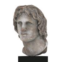 Alexander marble portrait