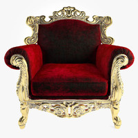 tonin casa armchair glamour 3d model