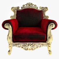 tonin casa armchair glamour 3d model