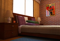 c4d interior design bedroom