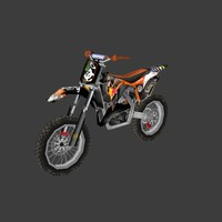 dirt bike 3d obj