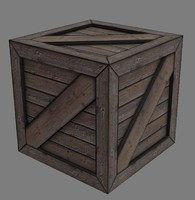 Low Poly Simple Crate