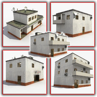 house town cottage 3d model