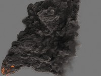 3d heavy smoke fumefx fx model