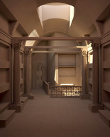 cubicula catacomb 3d model