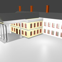mansion colonial 3d model