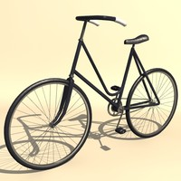 vintage ladies bicycle 3d model