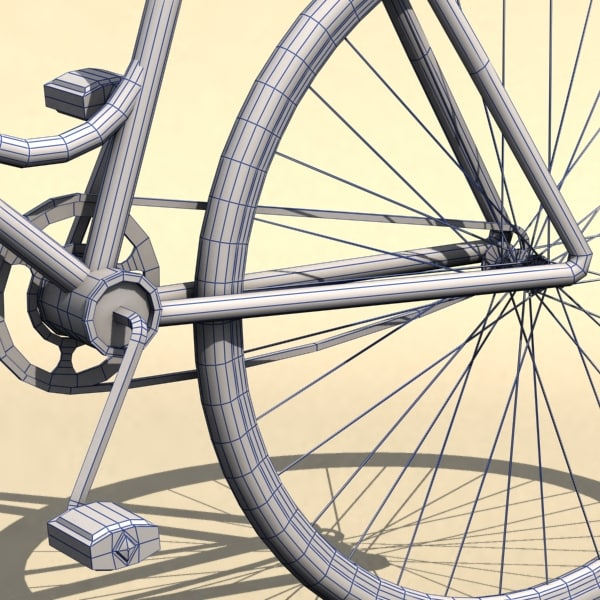 vintage ladies bicycle 3d model - ladies Bicycle... by mrgrotey