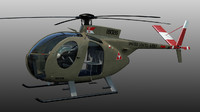 3d oh-6a helicopter model