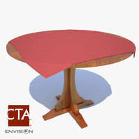 3d model dining table cloth