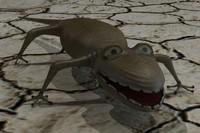 3d salamander model