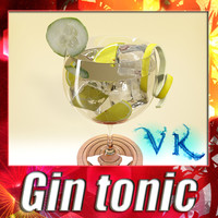 High Detailed Gin Tonic Cocktail