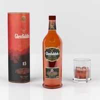 Glenfiddich 15 whisky bottle